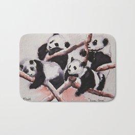 Lazy days Panda's by Machale O'Neill Bath Mat