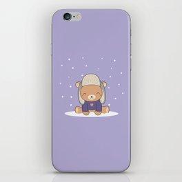 Kawaii Cute Winter Bear iPhone Skin