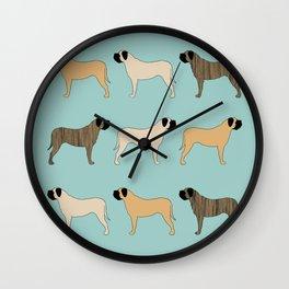 Mastiff Pattern Wall Clock