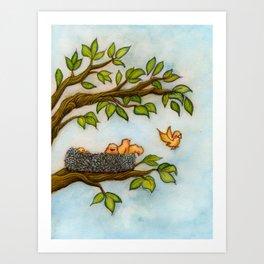 Leaveing the Nest//Dejando el Nido Art Print
