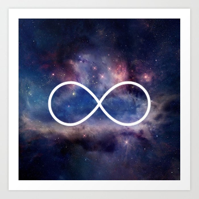 Infinity Symbol Stars Galaxy Space Art Print By Rexlambo Society6