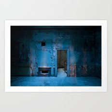 Blue Bank Art Print