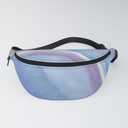 Blue and Purple Fanny Pack