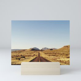 Golden Rolling Hills Road Mini Art Print