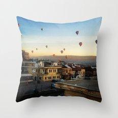 Cappadocian Hot Air Balloons 2 Throw Pillow