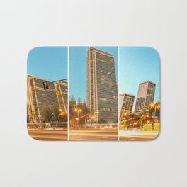 City Awakening Triptych Bath Mat