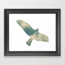 Cloud Bird Framed Art Print