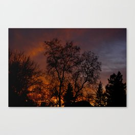 Sunset on the Front Porch Canvas Print