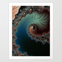 Velvet Crush - Fractal Art Art Print