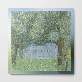 Upper Austrian Farmhouse by Gustav Klimt Metal Print
