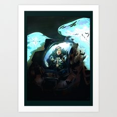 Search for Leviathan Art Print