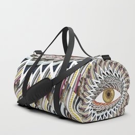 Origami Chakra Eye - Golden Hazel Duffle Bag