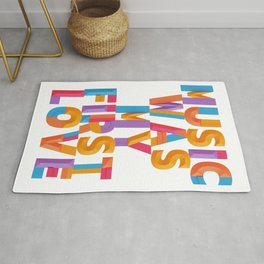 Music was my first Love - Decorative Geometry Rug