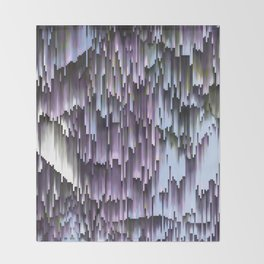 Lilac Blue Sky Abstract Throw Blanket