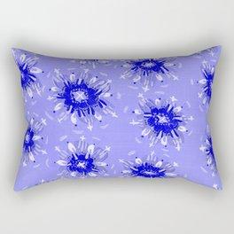 Blue Christie Rose Rectangular Pillow