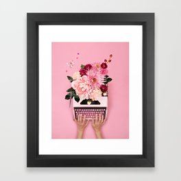 Love Letter Framed Art Print