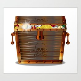 Full Pirates Treasure Chest Art Print