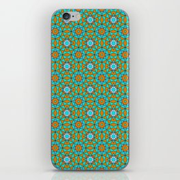 Moroccan Tile 1A - Blue iPhone Skin