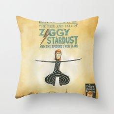 Ziggy Stardust - Book 2 - Bowie Throw Pillow