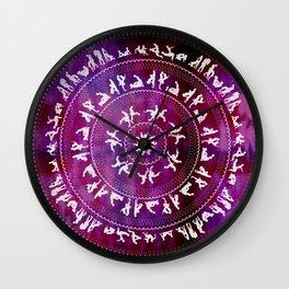 Kama Sutra Mandala Dark Red Wall Clock