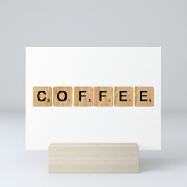 Scrabble - Coffee Mini Art Print