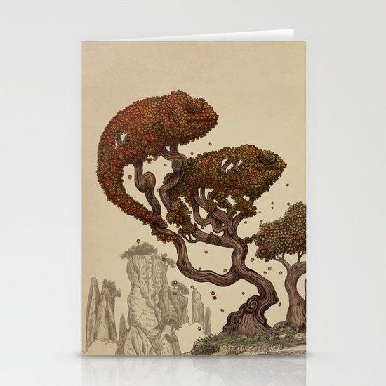 Autumn Chameleons  Stationery Cards