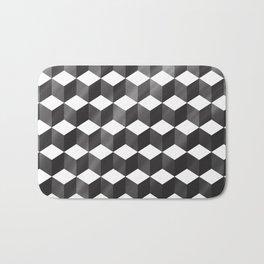 CUBE - gradient black on white Bath Mat