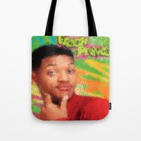 fresh prince Tote Bags featuring Will Smith - Fresh Prince by Alice Z.