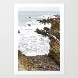 Beach Rocks and Waves XII : Montaña de Oro Art Print