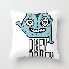 Okey Dokey Monster Throw Pillow