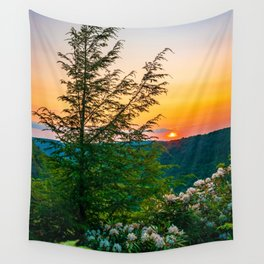 Appalachian Sunset Mountains Blackwater State Park West Virginia Print Wall Tapestry