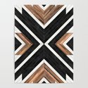 Urban Tribal Pattern No.1 - Concrete and Wood by zoltanratko