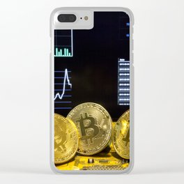 Bitcoin trio circuit market charts clean Clear iPhone Case