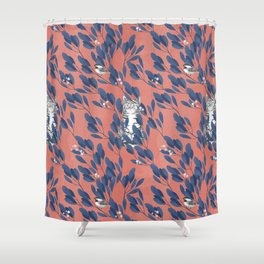 in the wild // repeat pattern Shower Curtain
