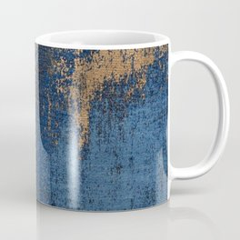 NAVY BLUE AND GOLD PATTERN Coffee Mug