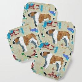 English Bulldog Abstract Art Coaster