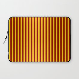 Cardinal and Gold Vertical Stripes Laptop Sleeve