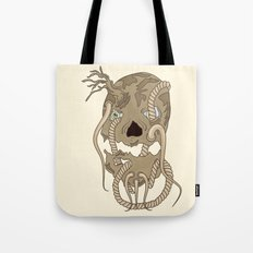 Dead Living by Tree Tote Bag