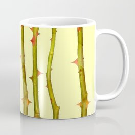 THORN BUSH CANES ABSTRACT IN YELLOW ART Coffee Mug