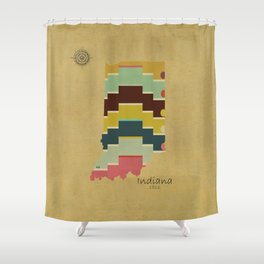 Indiana state map  Shower Curtain