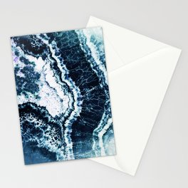 Blue agate marble art Stationery Cards