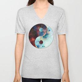 Ying-Yang Galaxy Unisex V-Neck