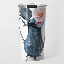 pitcher with flowers Travel Mug
