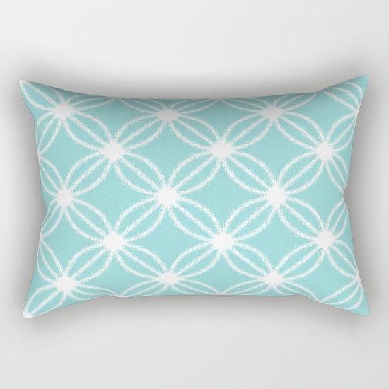 Abstract Circle Dots Mint Rectangular Pillow