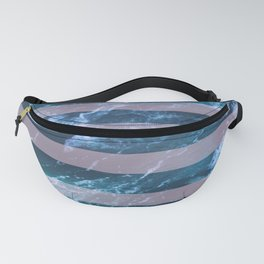 Pink Waves and Stripes Fanny Pack