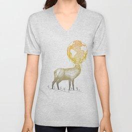 Deer God Unisex V-Neck