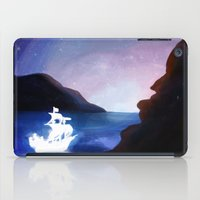 spaceship iPad Cases featuring spaceship by hickoryhay