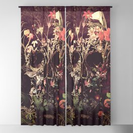 Bloom Skull Blackout Curtain