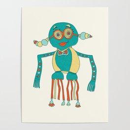 Robot Alien Monster No 210 Poster