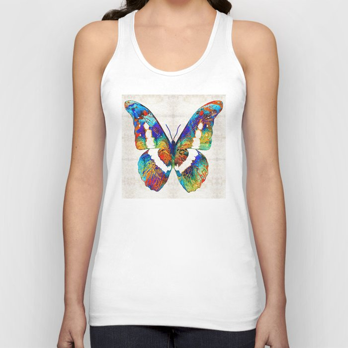 Colorful Butterfly Art by Sharon Cummings Unisex Tanktop